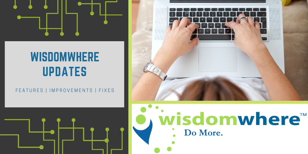 Wisdomwhere updates for May 23, 2019